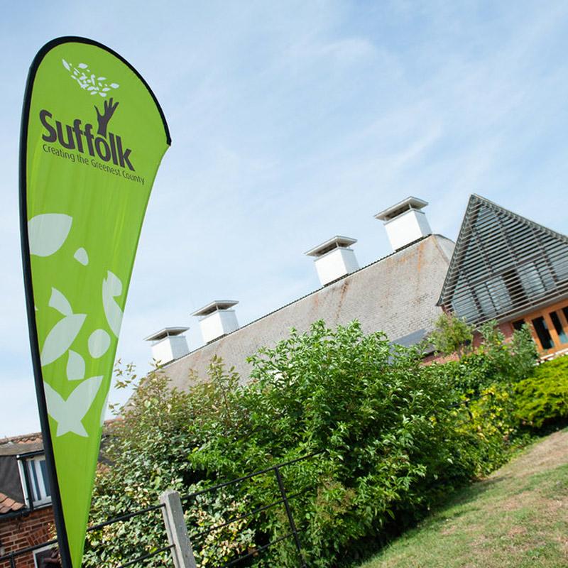 Green Suffolk Event Flag