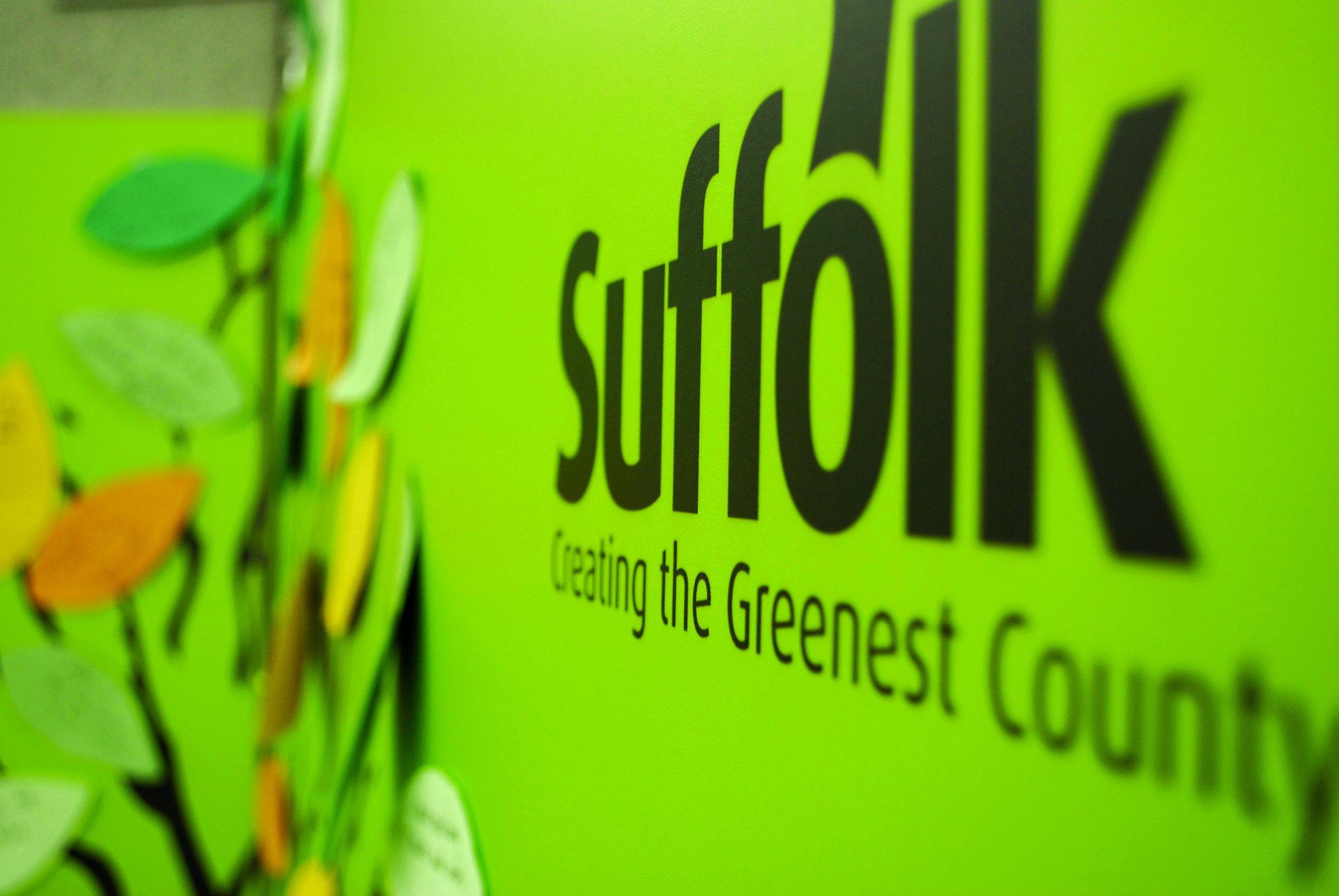 Green Suffolk Logo close up