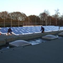 Solar Panels on roof of Broke Hall Primary School