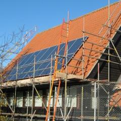 Solar panels on roof of Hoxne Primary School