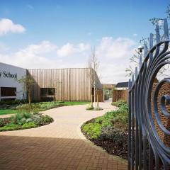 Abbotts Green building and garden